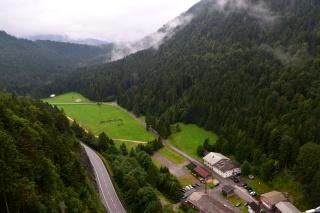 Kilátás a highline 179-ről az Ehrenberg-szorosra