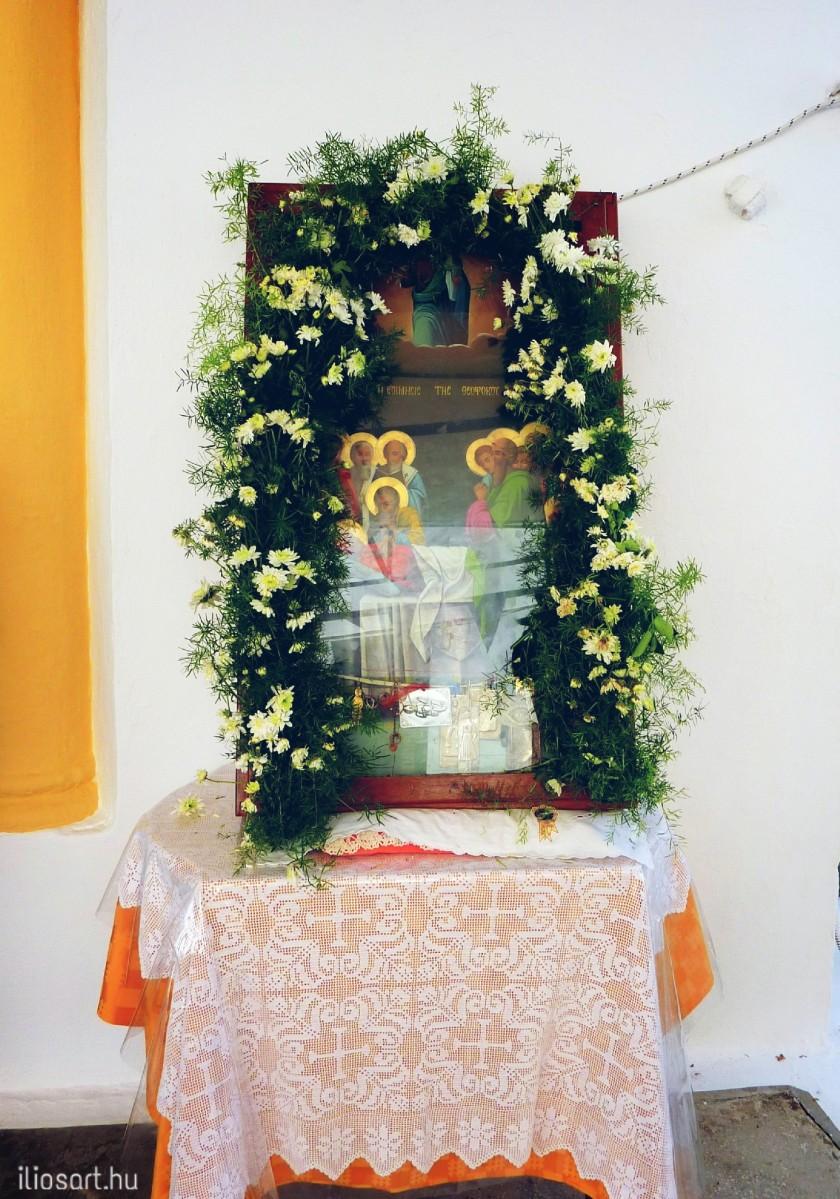 Szentkép Szűz Mária Mennybemeneteléről - Kalithies, Rodosz szigete / fotó: Lipcsei Mariann